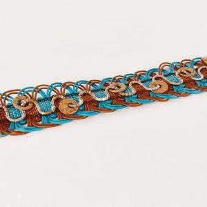 Bracelet tissé main, par Angélique Zrak tisserande passementière