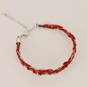 Bracelet tressé fin par angelique zrak tisserande passementiere