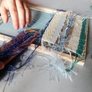 Ateliers-tissage-sur-cadre pour enfant- angelique zrak