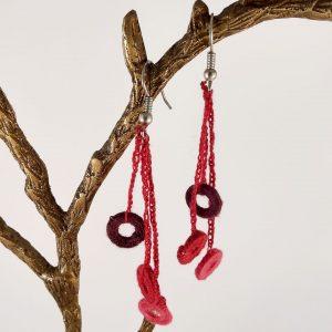 Boucles d'oreilles crochetées zrak angelique